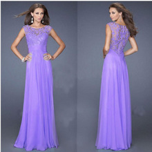 2016 New Brand Women Summer Party Dress Lace Sexy Floor Length A Line Zipper Chiffon Formal Dress Bodycon Club Lace Dresses