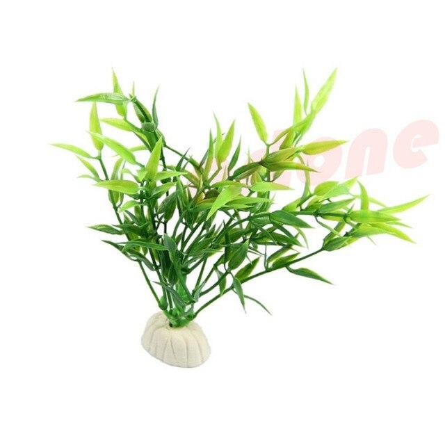 6 Stucke Simulierte Grun Bambus Blatt Pflanze Gras Aquarium Aquarium