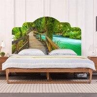 Yanqiao Drewniany Most Dzikie Krajobrazy Krajobrazy Zagłówkiem Naklejki Bedroom Decor Mural Tapety