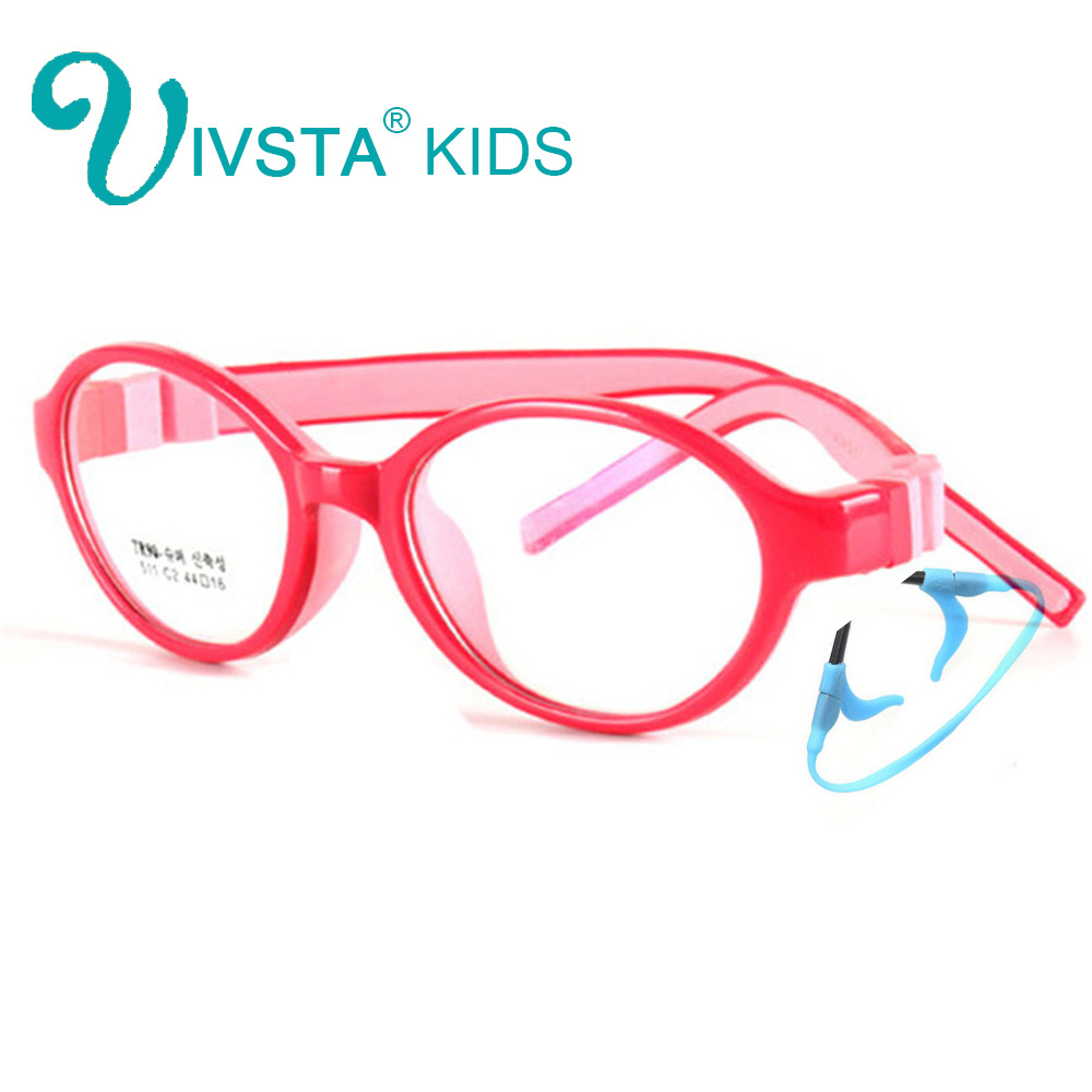 Image 5 - IVSTA 44 15 125 522 TR90 Kids Optical Frame Silicone Children Glasses with Strap retainer holder boys girls prescription-in Women's Eyewear Frames from Apparel Accessories on AliExpress
