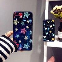 Nieuwe IMD Afdrukken Glossy Heldere Zachte Siliconen & Plastic Mobiele Telefoon Gevallen voor iPhoneX 10 8 8 Plus Shine Terug Covers Voor iPhone7 6 S