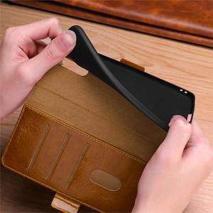 Image 5 - 화웨이 메이트 rs 20 10 9 프로 정품 가죽 케이스 빈티지 지갑 자동 슬립/웨이크 폴리오 플립 커버 킥 스탠드 기능 카드 슬롯