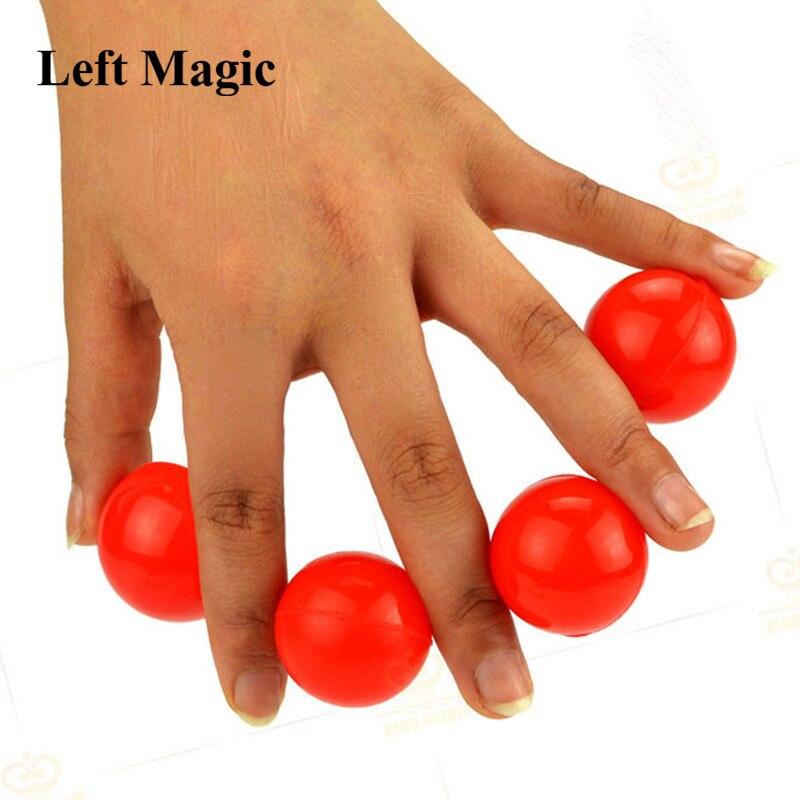 Boules de multiplication (métal, couleur rouge/blanc)-tours de magie une à quatre boules scène accessoires magiques magicien magique G8036