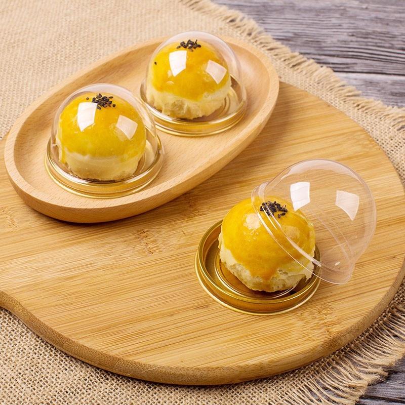 50PCS Plastic Round Gift Dessert Single Individual Moon