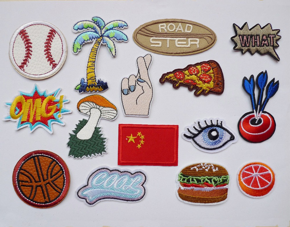 Chicken burger Embroidery Iron on patches sew clothes Fabric Applique badge Bag