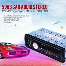 Reproductor de radio estéreo del coche aux-in mp3 fm/usb/1 din/para iphone 12 v de audio del coche auto 2016 venta nuevo