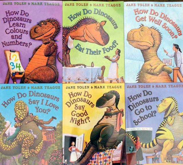 Educational Children English Study Story Books How Do Dinosaurs 6pcs
