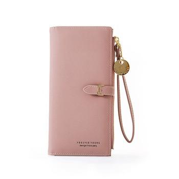 Wristband Women Long Wallet Many Departments Female Wallets Clutch Lady Purse Zipper Phone Pocket Card Holder Ladies Carteras 9