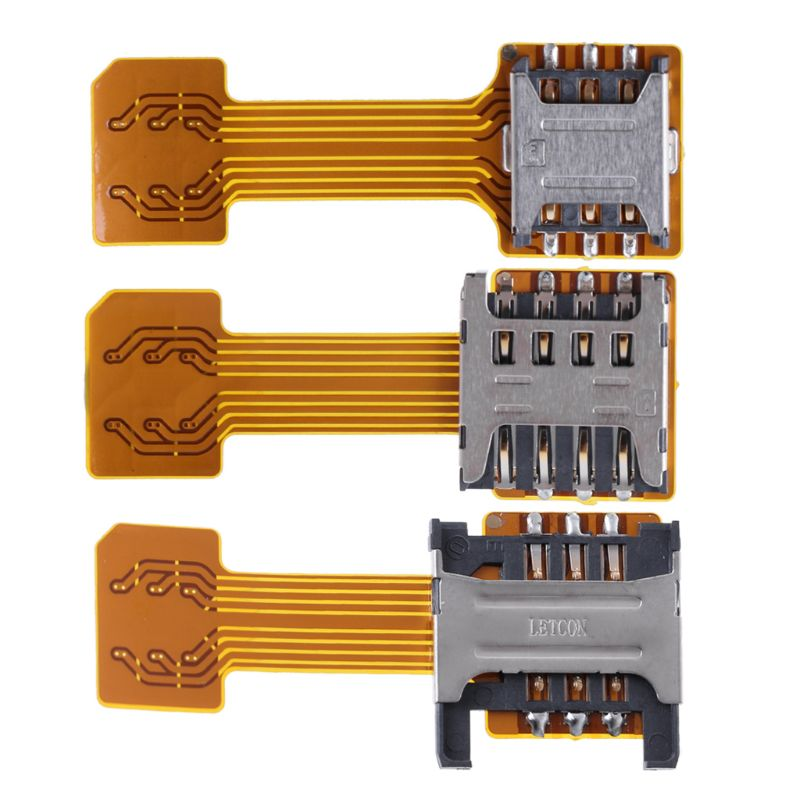 Hybrid Double <font><b>Dual</b></font> <font><b>SIM</b></font> <font><b>Card</b></font> Micro SD Adapter for Android Phone Extender Nano Mic image