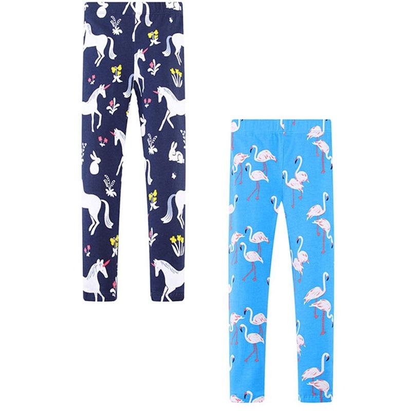 2PCS Baby Girls Pants Animal Pattern Kids Leggings for Girls Trousers 2018 Brand Children Pants Girls Leggings Cotton 2-7Years