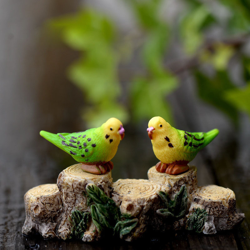 Bird Parrot Animal Miniature Fairy Garden Home Houses