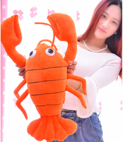 1pc 65cm Funny Crayfish Chicken Lobster Plush Doll Pillow Novelty Creative Romantic Girl Festival Stuffed Toy