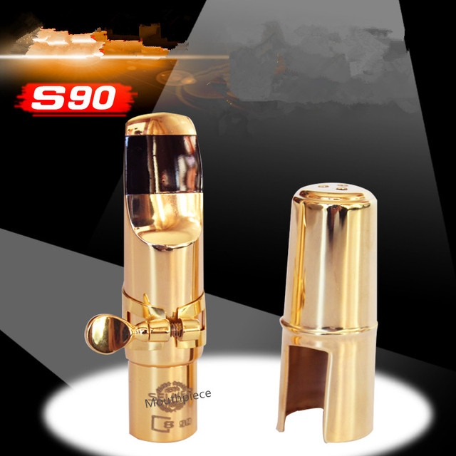 Wholesale price 0EM Gilding S90 Metal mouthpiece alto saxophone / saxophone tenor / Soprano saxophone 5--9 number free shipping