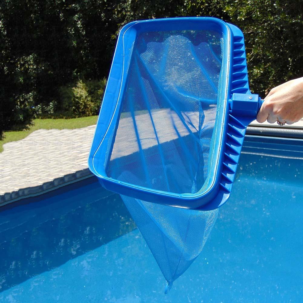 Filet à eau profonde robuste pour piscine, sac à râteau, tête, Spas, bassin, nettoyage des feuilles E2S