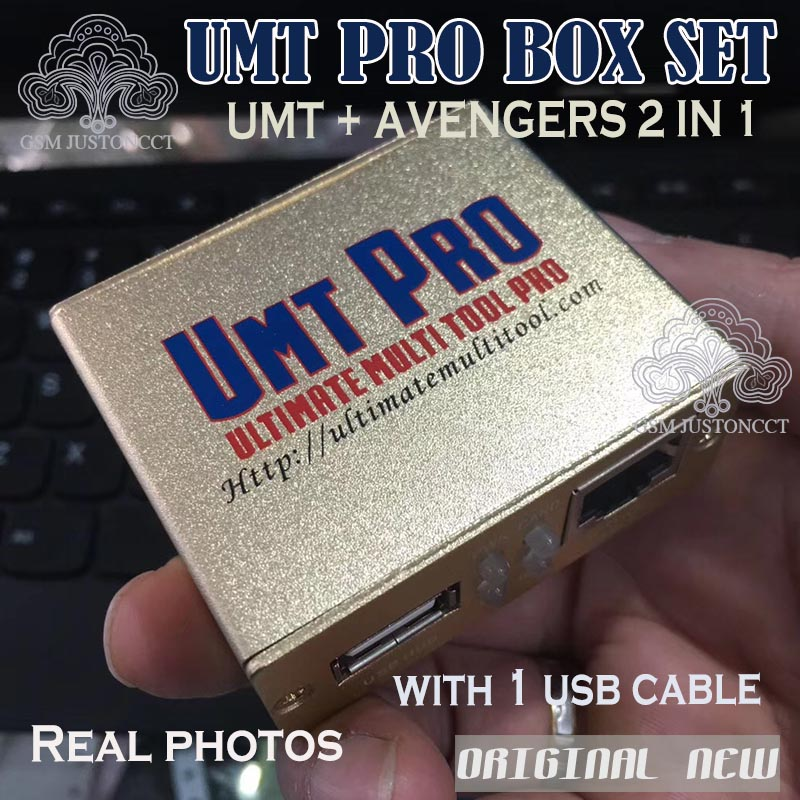 US $83 0 |Newest 100% Original UMT Pro BOX Ultimate Multi Tool UMT+Avengers  2in1 Box with 1 USB Cables-in Telecom Parts from Cellphones &
