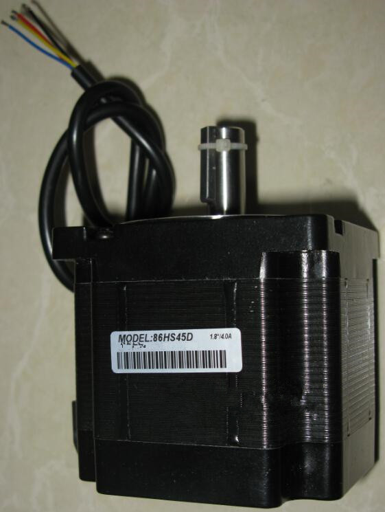 ФОТО CNC NEMA34 Stepper Motor 4.5NM 643oz-in 2ph 4.2A D=12.7mm 86HS45D Engraving Machine