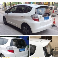 Auto ABS Plastic Unpainted Primer Color Rear Trunk Boot Wing Spoiler For Honda Fit Jazz 2008 2009 2010 2011 2012 2013