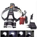 8000LM LED Headlight XML T6 + R2  Zoom Focus LED Headlamp 18650 lampe frontale led rechargeable Fishing Camping Head Lamp