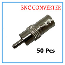50pcs Gold BNC Female RCA Male Video Plug Coupler Connector to screw Video BNC Connector Adapter