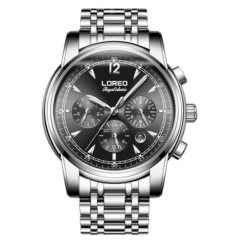 LOREO 6105 Germany watches men luxury brand automatic mechanical sapphire luminous golden Royal Classic relogio masculino цена