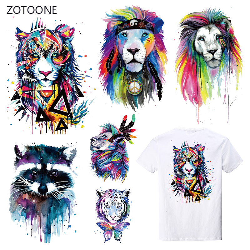 ZOTOONE Ink Stripes Iron on Transfer Patches on Clothing Diy Patch Heat Transfer for Clothes Decoration Stickers for Kids Gift G in Patches from Home Garden