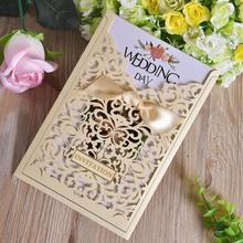 30pcs/lot Luxury Lace Laser Cutting Invitation Cards Wedding with Blank Inner Page Birthday Wedding Party Invitations creative party wedding birthday business invitations blank inside page with bowknot souvenir for guests 25pcs lot