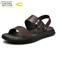 Camel Active 2019 New Genuine Leather Beach Casual Male Sandals Breathable For Men Walking Brand High Quality Comfortable Shoes