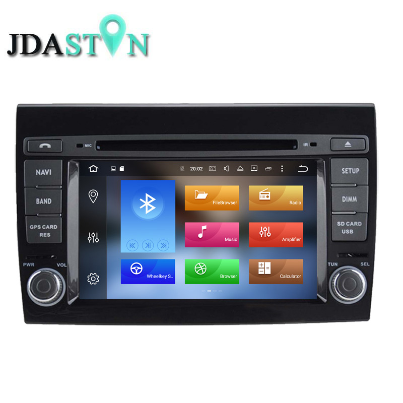 JDASTON 2 DIN 2G Android 6 0 font b Car b font DVD Player For Fiat