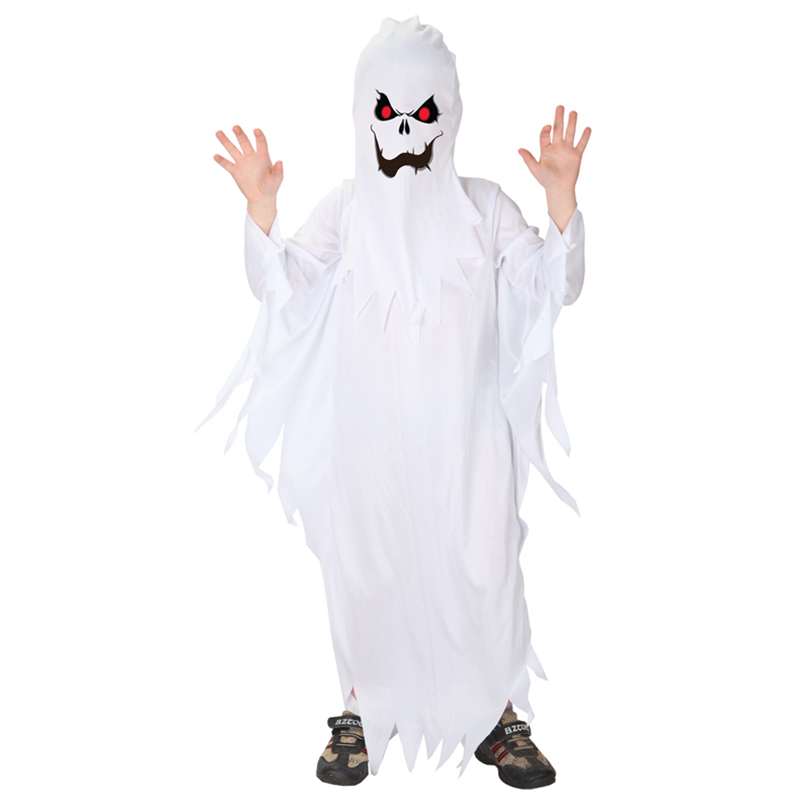 Spooky Scary White Ghost Halloween Costume 1
