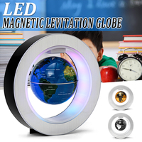 Magnetic Levitation Floating World Terrestrial Globe Map with Led Light Antigravity Round Shape Home Office Decoration Globe Lam