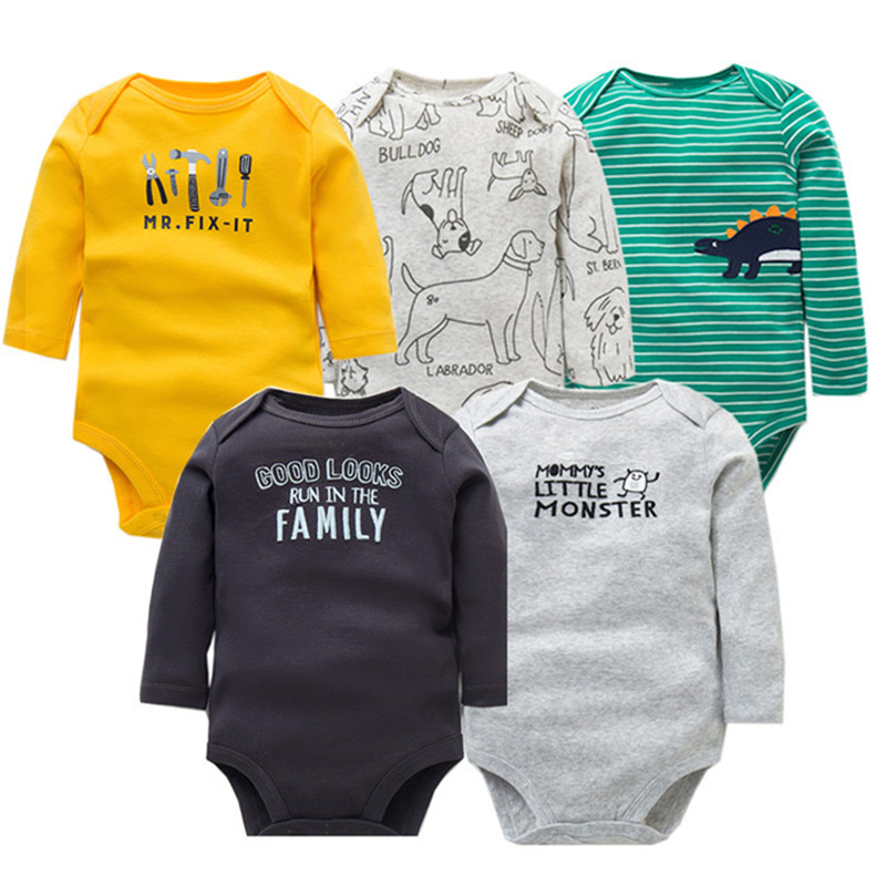 2018 Spring Autumn Cotton <font><b>Baby</b></font> Rompers Toddler Jumpsuit Long Sleeved Newborn <font><b>Baby</b></font> Girl Boy Clothe Cartoon Infant <font><b>Baby</b></font> <font><b>Clothing</b></font> image