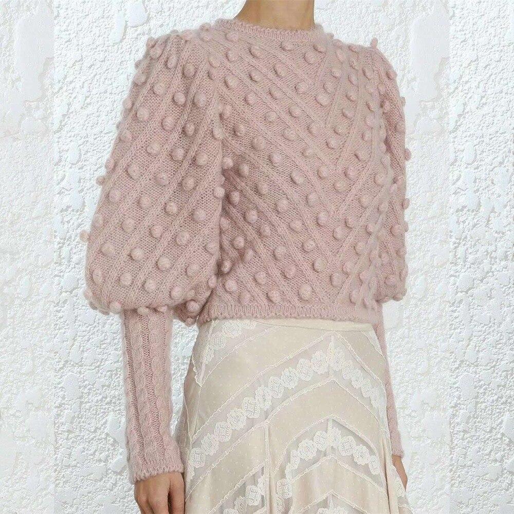 Для женщин 2018 осень/зима неукротимая Wool blend Sweater круглый вырез расширенный кабель вязать манжеты мягкая безделушка, шерстяной свитер