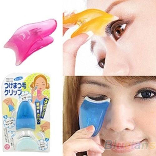 1Pc New Fashion Makeup Fake Eyelashes Applicator Clip Cosmetic Tool False Eyelash Applicator Beauty Make Up Tool Random Color
