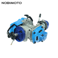 Синий Двигатель Pocket Bike 2 нажимом старт Двигатели для автомобиля для Pocket Bike go kart Байк бензин скутер Двигатель мотокросс fdj 002 1