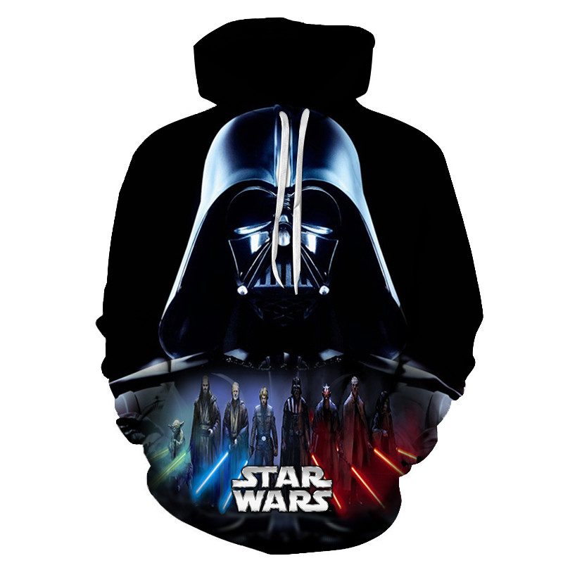Star Wars Hoodies Print Hoodies 3D Cool Design Men Sweatshirts Casual Male Tracksuits Fashion Tops Asian Size S-6xl