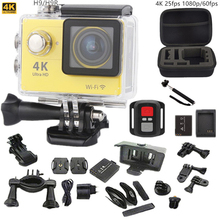 Оригинальный камера спорта/H9 H9R Ultra HD 4 К 25fps 170 Угол действий Камеры 2.0 «Экран 1080 P 60fps go pro стиль водонепроницаемый pro камера