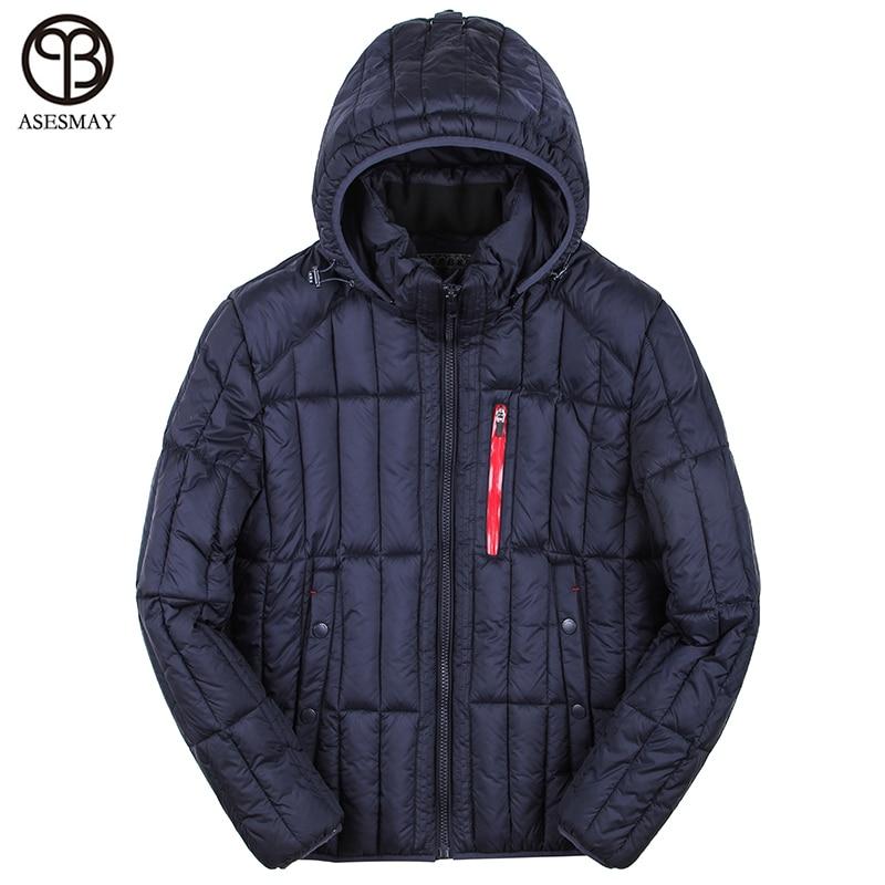купить Asesmay Winter Jacket Men Design Parka Men Clothing Red Zipper Coat Male Winter Coats Thick Warm Wellensteyn Jackets Russian дешево