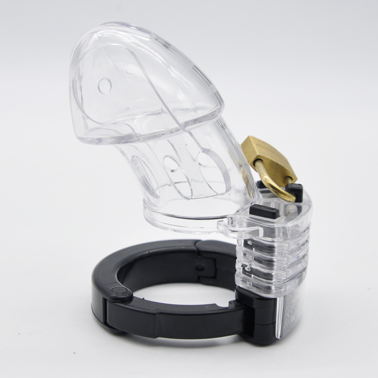 Plastic Mens Penis Ring With Lock Male Sex Chastit