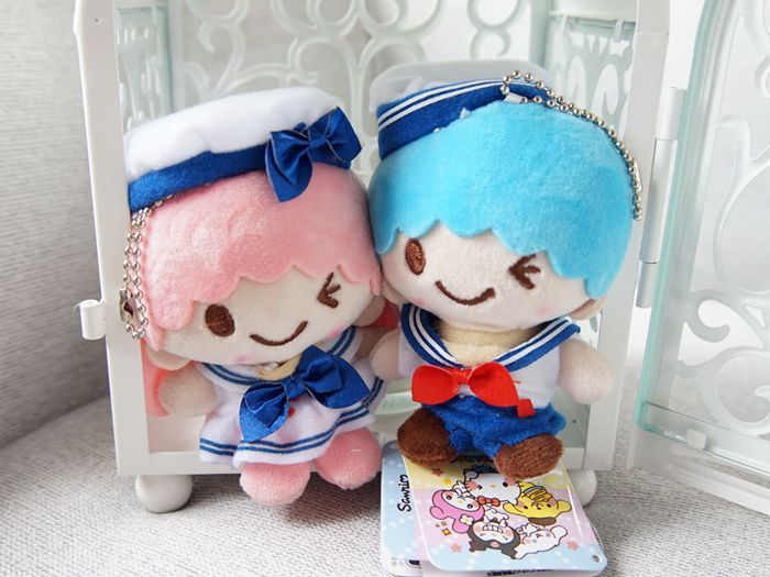 1pc My Melody Little Twin Stars Plush Toys Pudding Dog Navy Cosplay Bags Pendant Keychain Key Ring For Kids Gifts