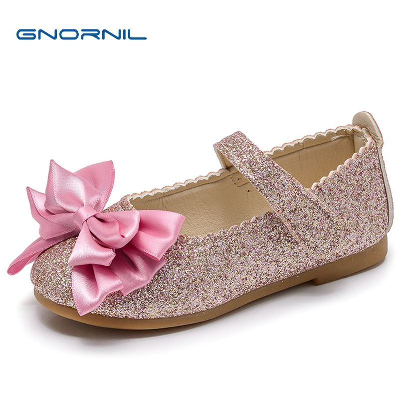 Children Shoes Girls Shoes 2018 Spring Fashion Bright PU Leather Princess Shoes Soft Sole Elegant Bow Kids Shoes For Girl Flat
