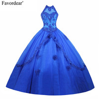 Favordear Turquoise Quinceanera Dresses 2018 Masquerade Ball Dresses With Beaded Ruffles Cheap Quinceanera Gowns Vestidos De 17