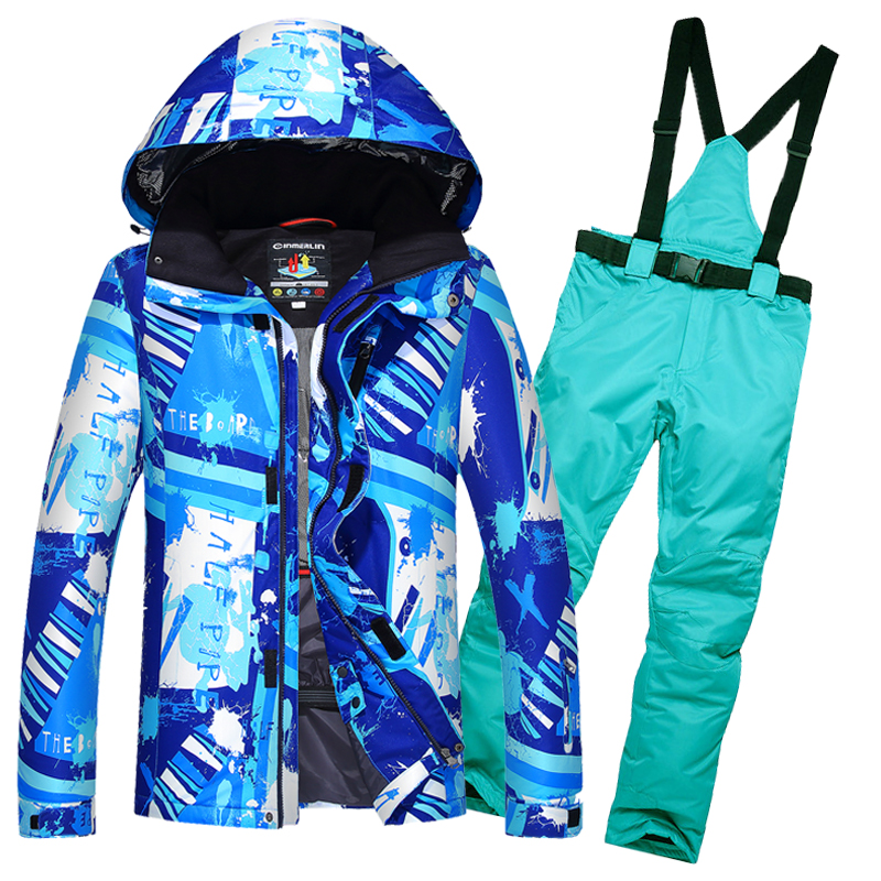 2017 Men's Skiwear Ice Skating Clothes Male Ski Suit Men Snow Jackets And Pants Windproof Waterproof Snowboarding Skiing Clothes first sticker book ice skating