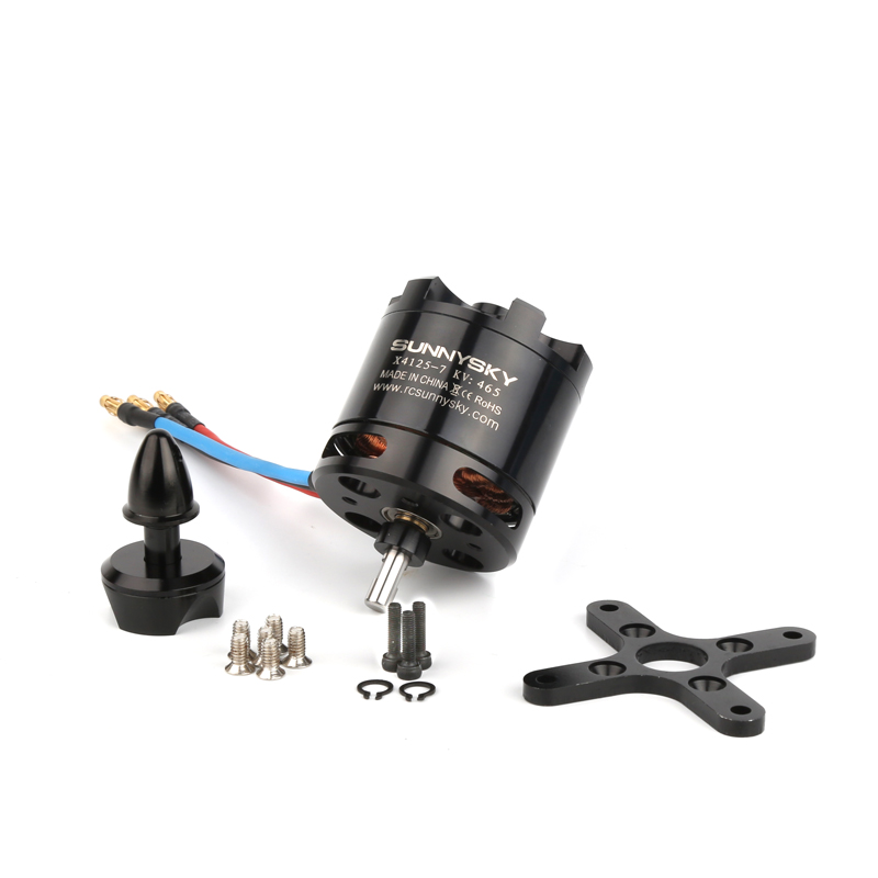 Original SUNNYSKY new vision X4125 KV465 550KV 6S high efficiency brushless motor Fixed wing motor drone accessories bl motor t motor u power u8 high efficiency multi axis rotary disc brushless motor tm efficiency series