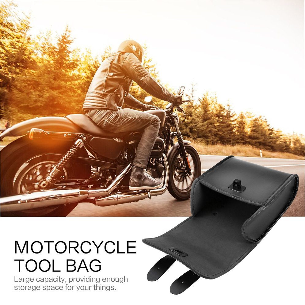 Universal Motorcycle Bike Front Handlebar Tool Bag Luggage Saddle Bag Synthetic Leather Universal Motorcycle or Bike motorcycle capacity luagge side bag leather saddle bag dual sport bike chopper