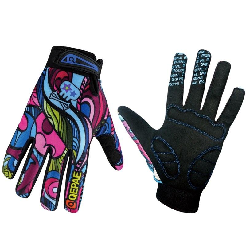 Acheter QEPAE Hommes Vélo Gants Coloré Hiver Vélo Plein Doigt Gants GEL Pad antichoc Vélo Gants Mâle VTT Vélo En Plein Air gants de men biking gloves fiable fournisseurs
