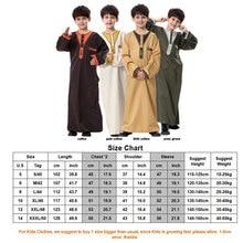 Boys Muslim Robe Kids Long Dubai Kaftan Abaya Arabic Teenage Loose Clothing Thobe Islamic National Blouses Arabe Caftan Robes