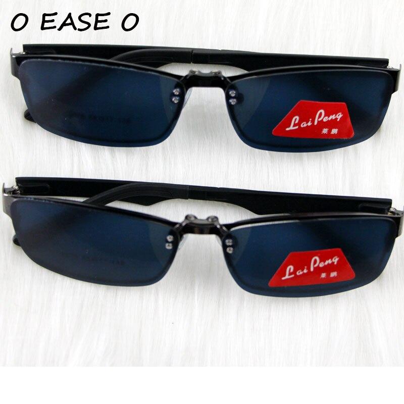0f34f33c6 2015 Nova Moda Magnética Clip Sobre Óculos De Sol Para Homens Dois Uso  Polarizado e Óculos de Miopia Presbiopia Óculos de Condução 9076