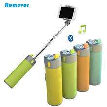 New Arrival Multi-function Protable Monopod Bluetooth Selfie stick+Bluetooth Speaker+Power Bank for Phones Iphone Huawei Xiaomi