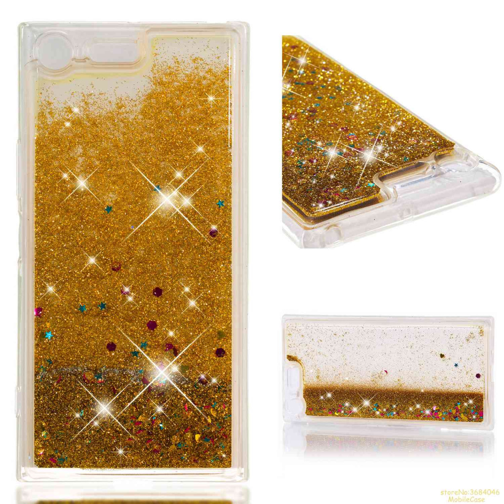 New Arrivals Dynamic Liquid Glitter Sand Quicksand Star Soft Tpu Case For Sony Xperia Xa2 Caso Crystal Clear Back Cover Hoesje Half-wrapped Case Phone Bags & Cases