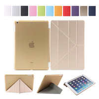 Origami Style Folding Cover For IPad Air Wake And Sleep Function Multiple Shapes Stand Ultra Thin